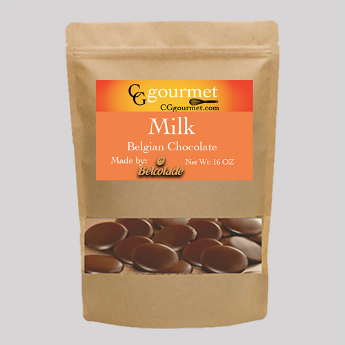 Belcolade Belgian Milk Chocolate Wafers 16 OZ (1 LB) - Baking Chocolate