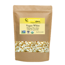 Load image into Gallery viewer, Vegan White Chocolate Chips with rice powder 16 OZ (1 LB) | Non-GMO, Organic, Fair Trade