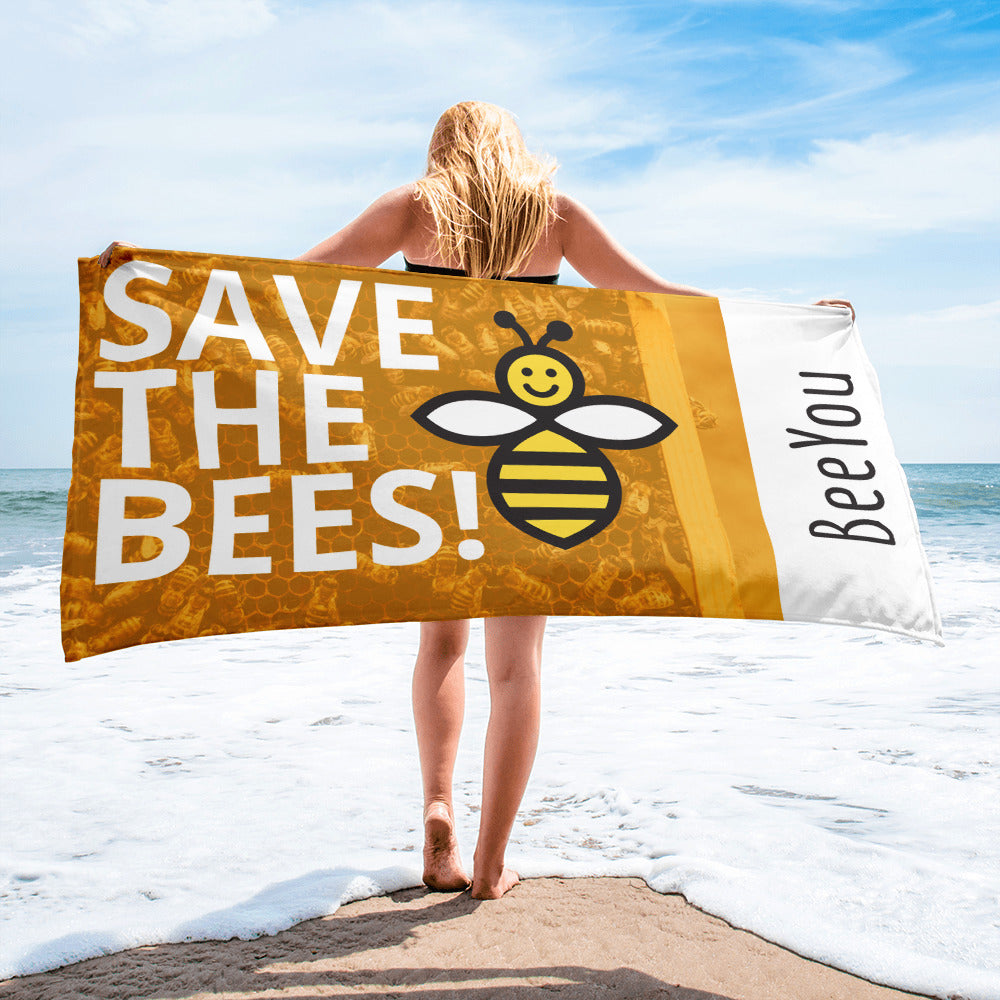 Save The Bees Beach Towel