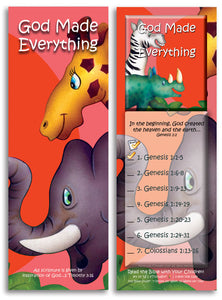 "God Made Everything - Pack of 25 Cards - 2.75"" x 8.25"""