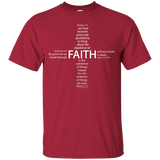 eThought Christian Apparel - Four Scriptures About Faith - Ultra Cotton T-Shirt (darker color options)