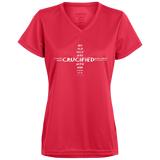 eThought Christian Apparel - Crucified With Christ (On Front Of Shirt) - Ladies' Wicking T-Shirt
