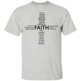 eThought Christian Apparel - Four Scriptures About Faith - Ultra Cotton T-Shirt (lighter color shirt options)