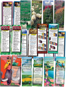 Bible Cards & Bookmarks - Assorted Pack Of 10 Bible Cards Plus Free Gospel DVD - Use Coupon Code FREEGIFT At Checkout