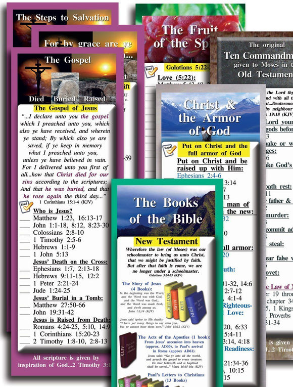 Bible Cards & Bookmarks - Bible Study For Teens And Adults - Complete Set