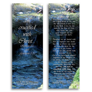 Bible Cards & Bookmarks - Crucified With Christ - Pack Of 25 Cards - 2x6