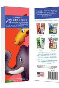 Bible Cards & Bookmarks - Daily Bible Reading Program For Children-52 Cards