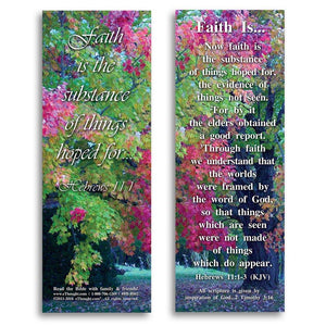 "Bible Cards & Bookmarks - Faith Is - Pack Of 25 Cards - 2""x6"""