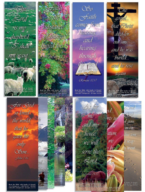 Bible Cards & Bookmarks - Favorite Bible Verses - Assorted Pack Of 100 - 2