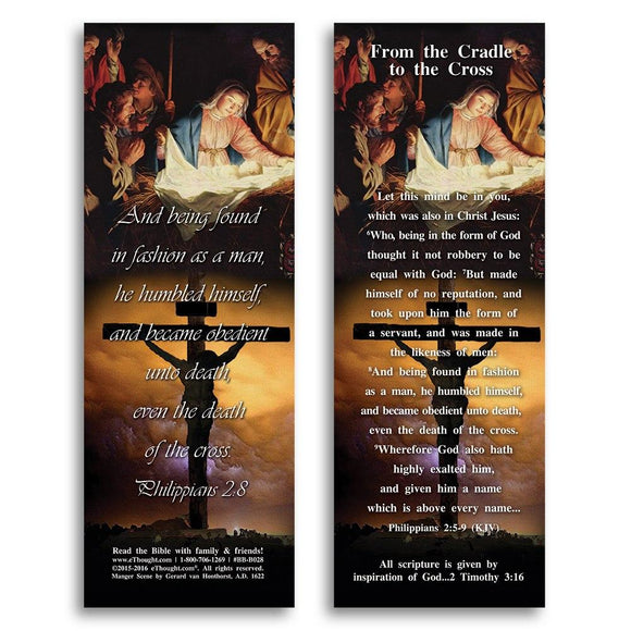 Bible Cards & Bookmarks - From The Cradle To The Cross - Pack Of 25 Cards - 2