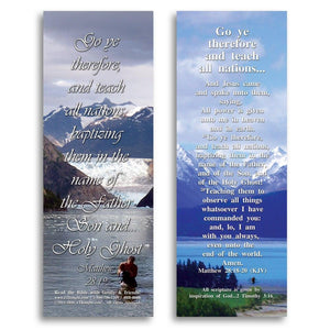 "Bible Cards & Bookmarks - Go And Teach All Nations - Pack Of 25 Cards - 2""x6"""