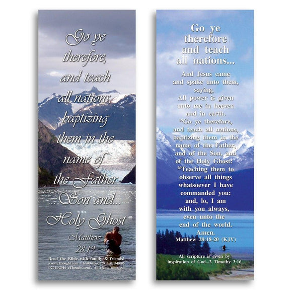Bible Cards & Bookmarks - Go And Teach All Nations - Pack Of 25 Cards - 2