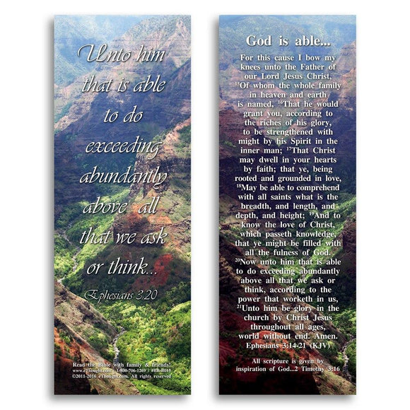 Bible Cards & Bookmarks - God Is Able - Pack Of 25 Cards - 2