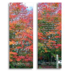 Bible Cards & Bookmarks - God Is Greater - Pack Of 25 Cards - 2x6
