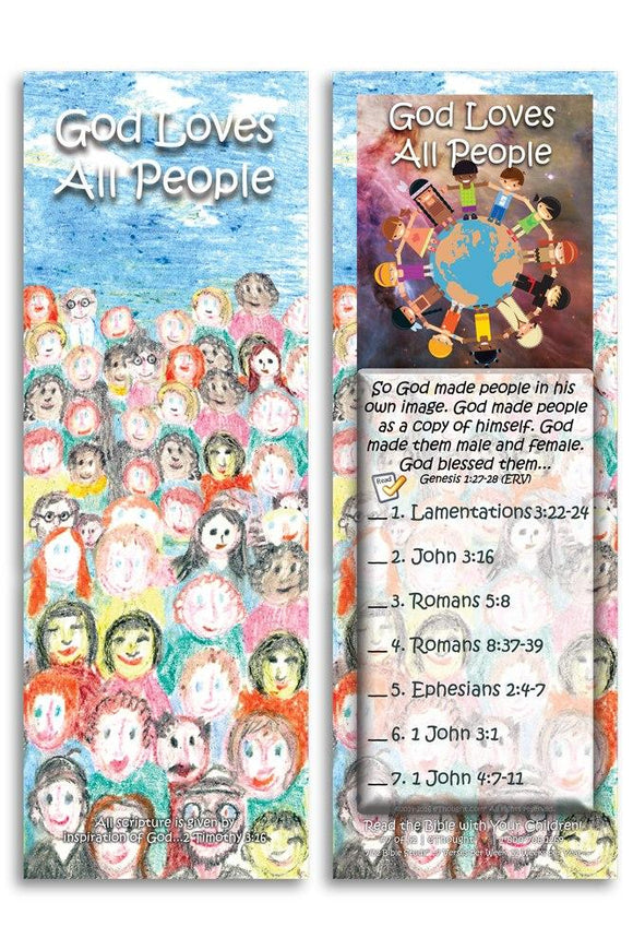Bible Cards & Bookmarks - God Loves All People - Pack Of 25 Cards