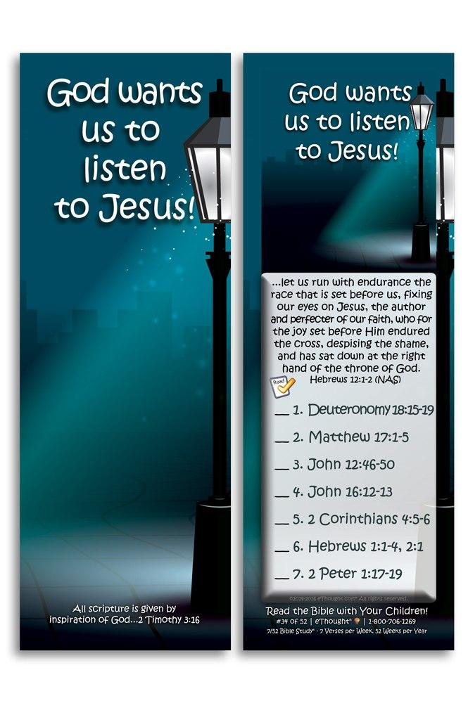 God Wants Us to Listen to Jesus - Pack of 25 Cards -