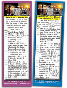 Bible Cards & Bookmarks - Grace And Faith - Pack Of 25 Cards