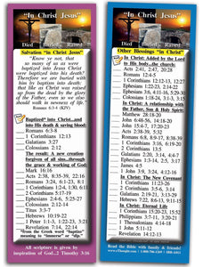 Bible Cards & Bookmarks - In Christ Jesus - Pack Of 25 Cards