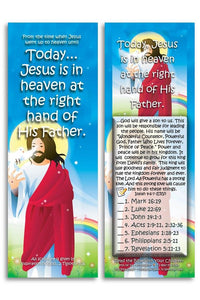 Bible Cards & Bookmarks - Jesus Is In Heaven - Pack Of 25 Cards