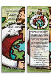 Bible Cards & Bookmarks - Jesus Is Lord And Is The Head Of His Church - Pack Of 25 Cards
