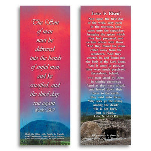 "Bible Cards & Bookmarks - Jesus Is Risen - Pack Of 25 Cards - 2""x6"""