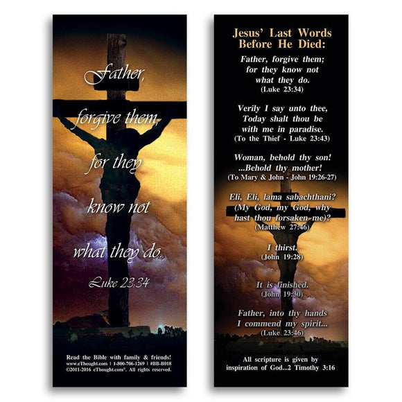 Bible Cards & Bookmarks - Jesus' Last Words Before He Died - Pack Of 25 Cards - 2