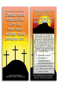 Bible Cards & Bookmarks - Jesus Paid The Price - Pack Of 25 Cards