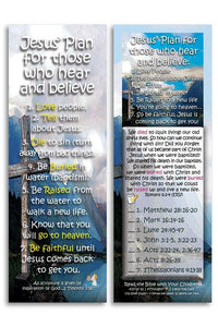 Bible Cards & Bookmarks - Jesus' Plan For Those Who Hear And Believe - Pack Of 25 Cards