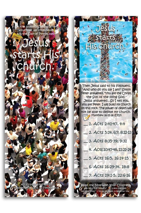 Bible Cards & Bookmarks - Jesus Starts His Church - Pack Of 25 Cards
