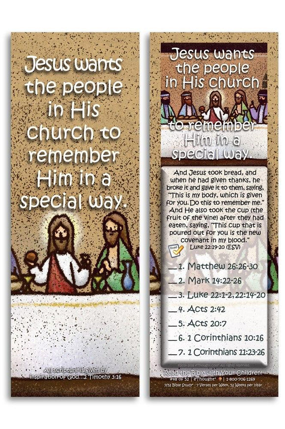 Bible Cards & Bookmarks - Jesus Wants His Church To Remember Him - Pack Of 25 Cards