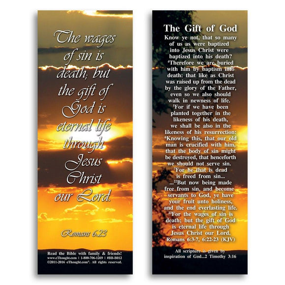 Bible Cards & Bookmarks - The Gift Of God - Pack Of 25 Cards - 2