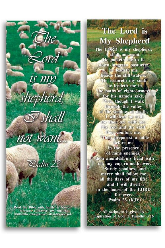 Bible Cards & Bookmarks - The Lord Is My Shepherd - Pack Of 25 Cards - 2