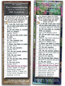 Bible Cards & Bookmarks - The Ten Commandments - Pack Of 25 Cards