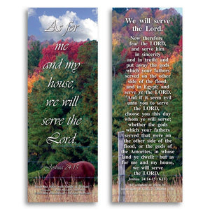 "Bible Cards & Bookmarks - We Will Serve The Lord - Pack Of 25 Cards - 2""x6"""