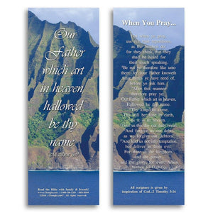 Bible Cards & Bookmarks - When You Pray - Pack Of 25 Cards - 2x6