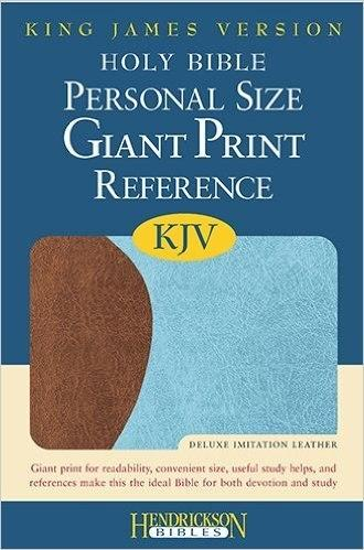 Bibles - KJV Personal Size Giant Print Bible, Imitation Leather