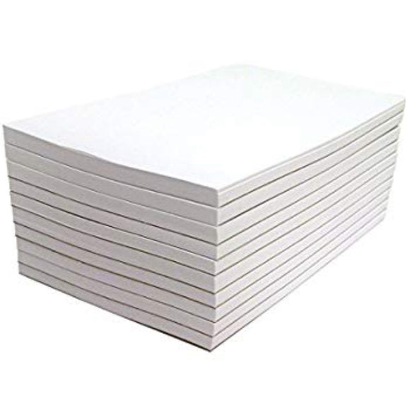 Blank Note Pads by eThought - Pack of 10 Pads - 50 Sheets per Pad