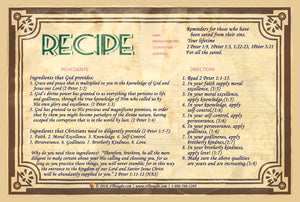 Recipe: Reminders For Those Who Have Been Saved - From 2 Peter 1