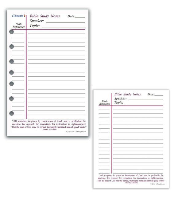 Themes - Bible Study Notepads - Pack Of 4 Notepads