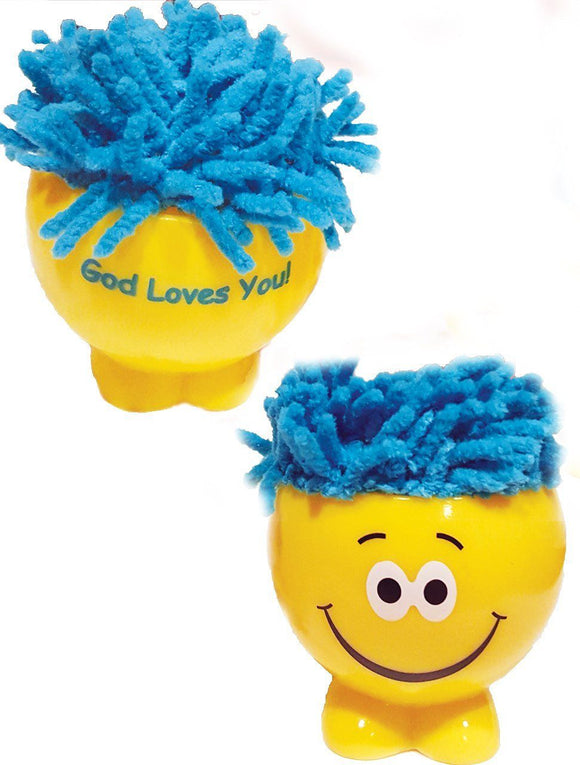 Themes - God Loves You MopHead - Microfiber Screen Cleaner - Pack Of Two