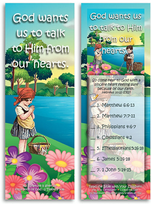 Daily Bible reading cards for children