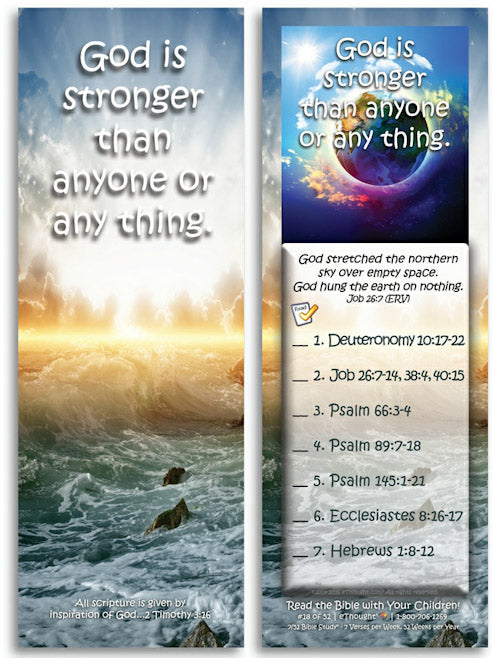 God is stronger than anyone or any thing