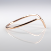 14K Rose Gold Chevron Stackable Ring