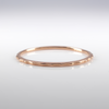 14K Rose Gold Wavy Stackable Band