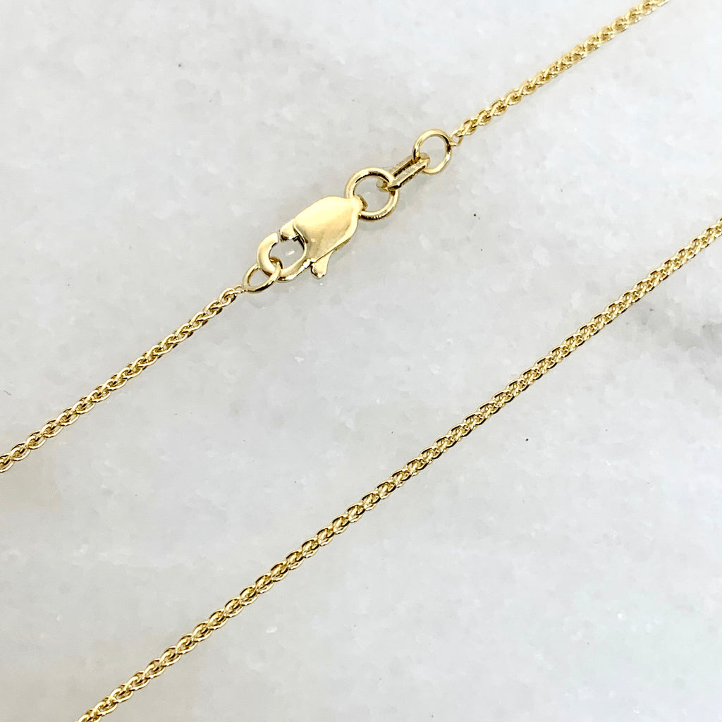 "14K Yellow Gold 20"" Wheat Link Necklace"