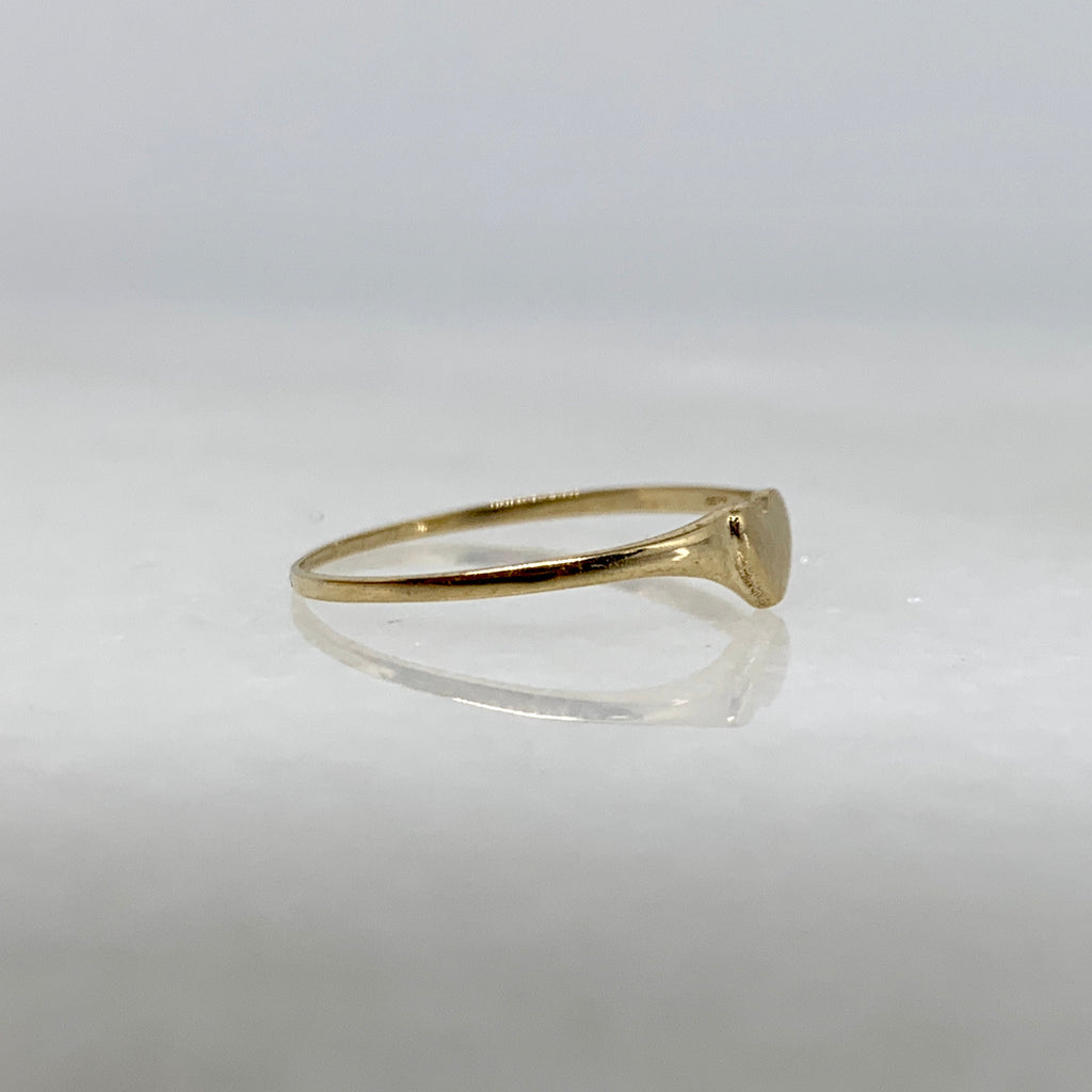 14K Yellow Gold Heart Midi/Pinky/Children's Ring
