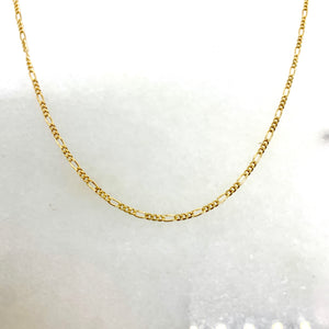 "10K Yellow Gold 18"" 1.25mm Figaro Chain"