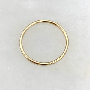 14K Yellow Gold 1.5mm Plain Stackable Wedding Band