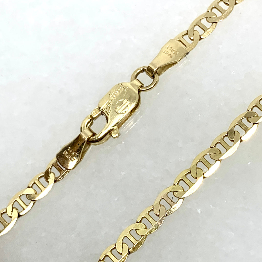 "14K Yellow Gold 22"" 3mm Mariner Anchor Chain"