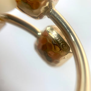 10K Yellow Gold Double Puffed Square Ring